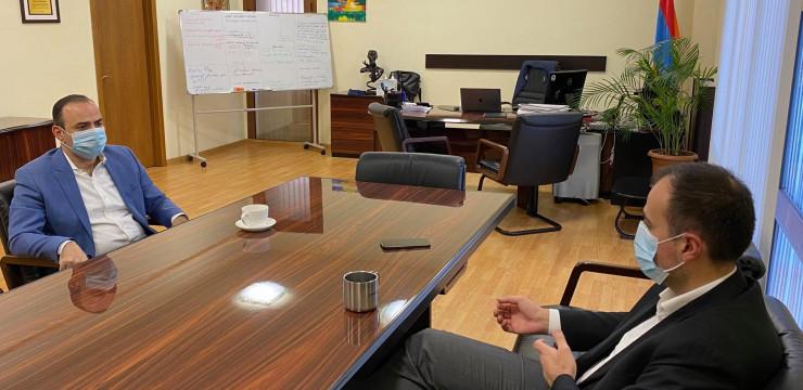 Գլխավոր հանձնակատարը հանդիպեց Առողջապահության նախարար Արսեն Թորոսյանի հետ
