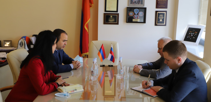 Meeting with Ambassador Extraordinary and Plenipotentiary of the Russian Federation to the Republic of Armenia Sergey Kopirkin