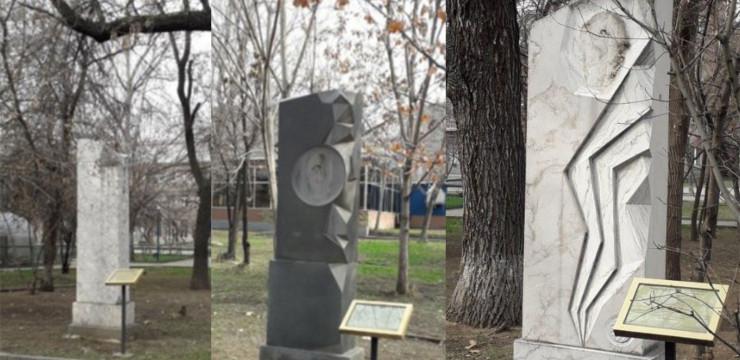 С «Аллеи армянских благотворителей» неизвестные украли металлические изображения памятников