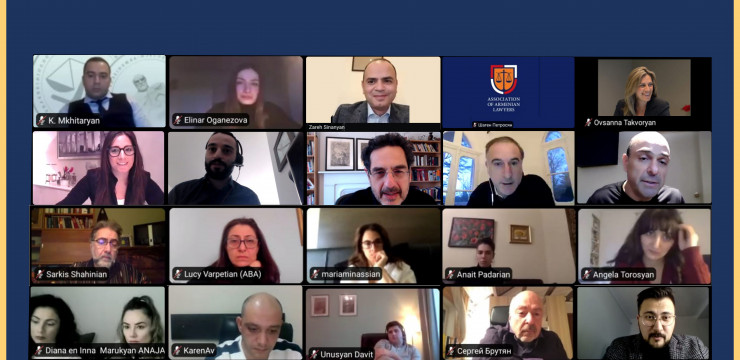 Online meeting with members of the International Cooperation of Armenian Lawyers' Associations