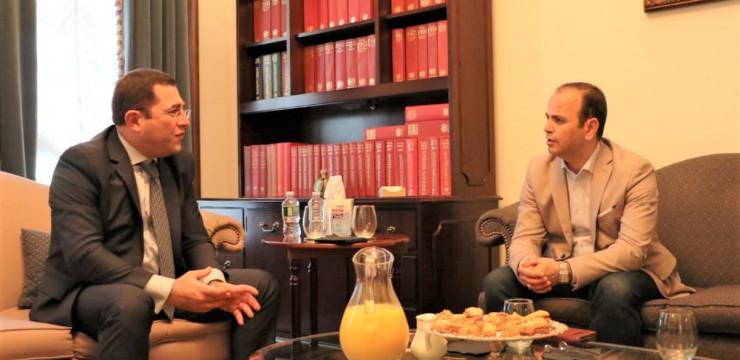 Նյու Յորքում Զարեհ Սինանյանը այցելեց ՄԱԿ-ում ՀՀ մշտական ներկայացուցչություն