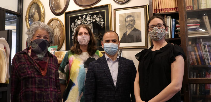 Բոստոնում Զարեհ Սինանյանը այցելեց Project Save Armenian Photograph Archives