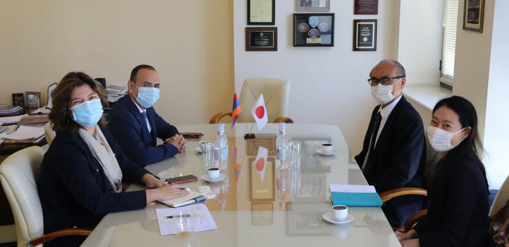 Գլխավոր հանձնակատար Զարեհ Սինանյանն ընդունեց Հայաստանում Ճապոնիայի նորանշանակ արտակարգ և լիազոր դեսպան Ֆուկուշիմա Մասանորիին