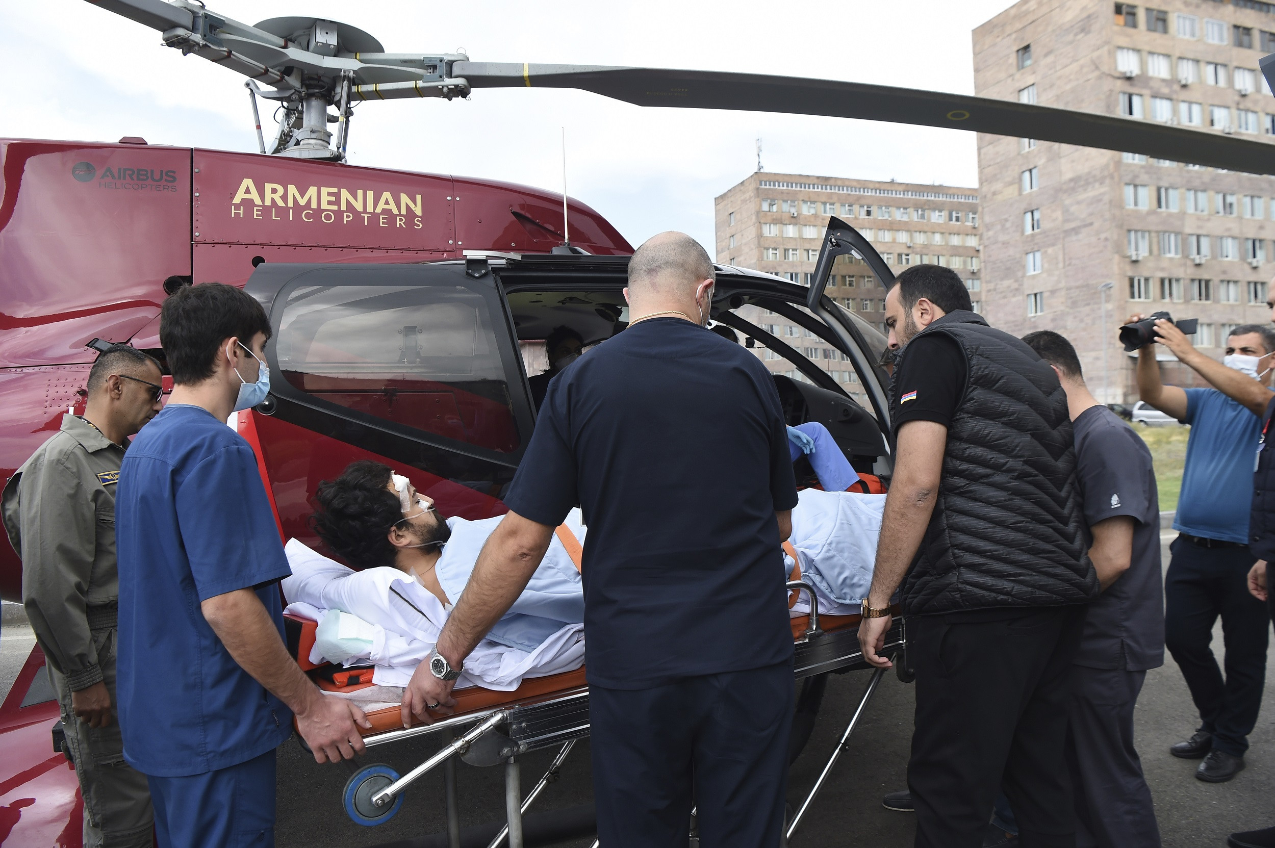 French journalist targeted by Azerbaijan, airlifted to hospital.