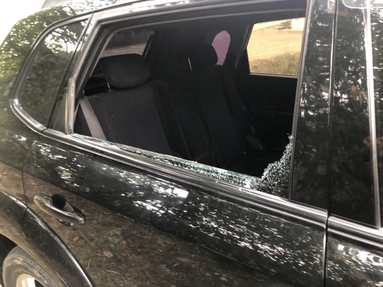 Press vehicle attacked by Azerbaijan.